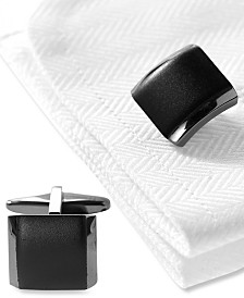 Kenneth Cole Reaction Cufflinks, Polished Hematite Boxed Set