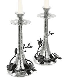 Michael Aram Black Orchid Set of 2 Candlestick Holders