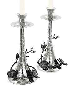 Michael Aram Black Orchid Set of 2 Candlestick Holders