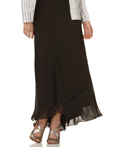 Alex Evenings Skirt, Long Tiered