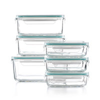 Martha Stewart Collection 12-Piece Glass Food Storage Container Set + $3 Beauty Item for Free Shipping