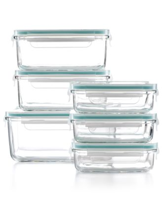 Martha Stewart Collection 12 Piece Glass Food Storage Container Set,  Created For Macyu0027s