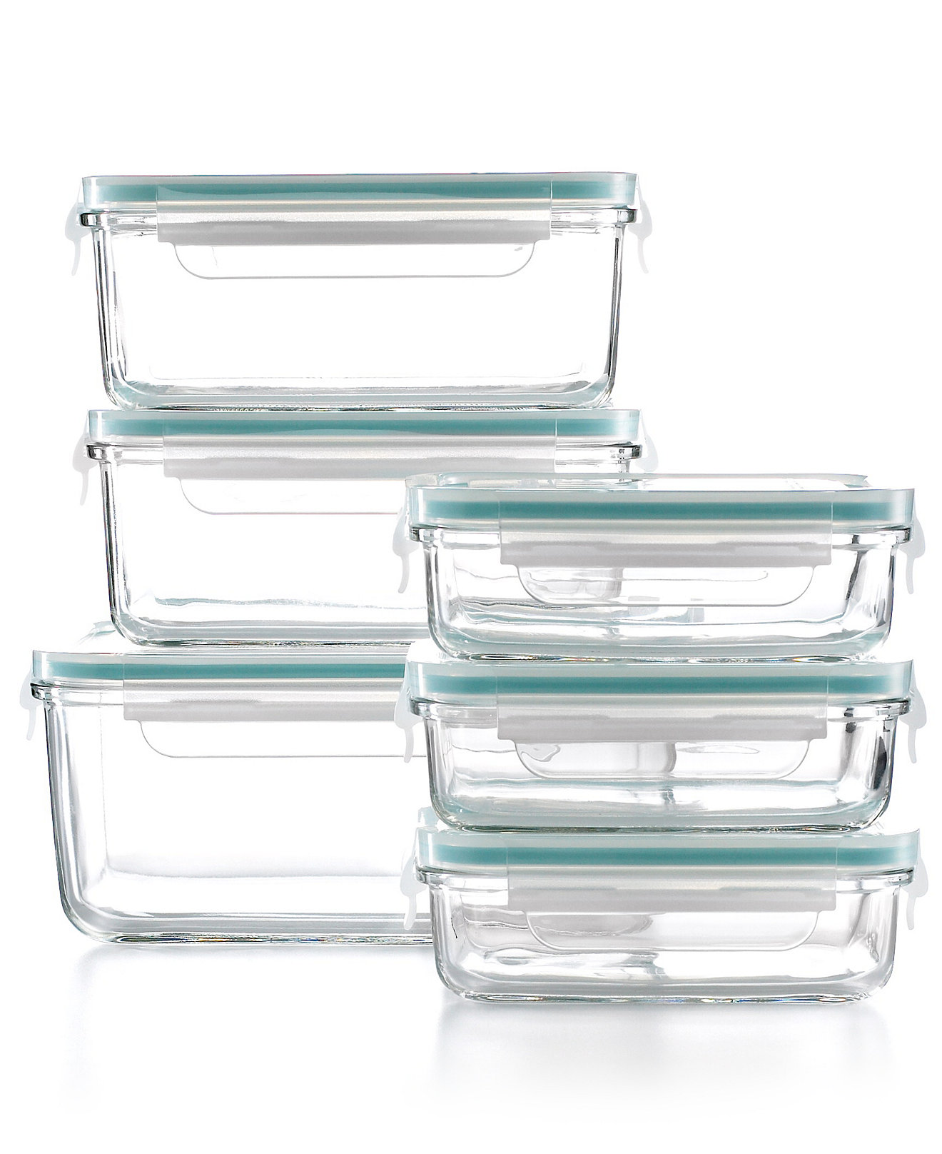 Glass kitchen storage containers - Martha Stewart Collection 12 Piece Glass Food Storage Container Set Created For Macy S