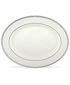 "Lenox Federal Platinum 16"" Oval Platter"