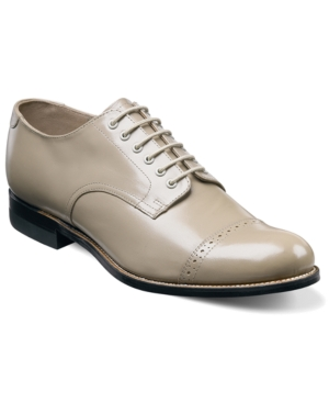 1930s Style Mens Shoes Stacy Adams Mens Madison Cap Toe Oxford Mens Shoes $114.98 AT vintagedancer.com