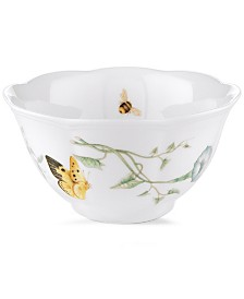 "Lenox ""Butterfly Meadow"" Rice Bowl"