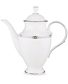 Lenox Pearl Platinum Coffee Pot