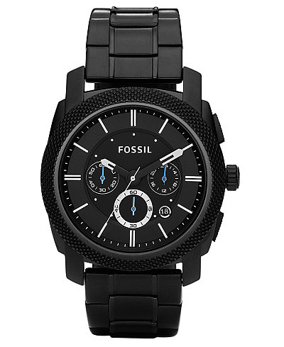 fossil men 39 s chronograph machine black stainless steel. Black Bedroom Furniture Sets. Home Design Ideas