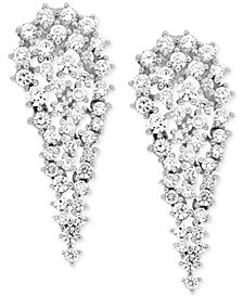 Wrapped In Love Diamond Cluster Drop Earrings (2 ct. t.w.) in 14k White Gold, Created for Macy's