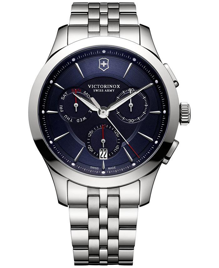 Victorinox Swiss Army - Men's Swiss Chronograph Alliance Stainless Steel Bracelet Watch 44mm 241746