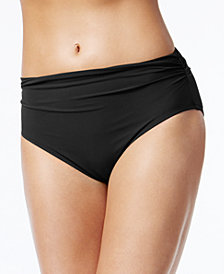 Profile by Gottex High-Waist Ruched Bikini Bottoms