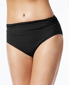 Profile by Gottex High-Waist Ruched Bikini Bottoms