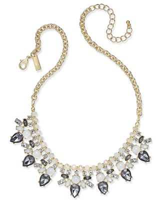 INC International Concepts Snow Queen Gold-Tone Crystal Collar Necklace, Only at Macy's