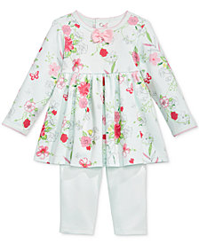 First Impressions 2-Pc. Floral-Print Tunic & Leggings Set, Baby Girls, Created for Macy's