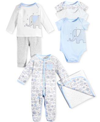 Baby Boys 3-Pk. Elephant Bodysuits, Created for Macy's