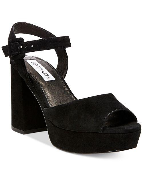 634fcab0630 Steve Madden Women s Trixie Two-Piece Block-Heel Platform Sandals ...