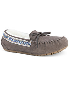 Muk Luks Women's Jane Suede Moccasin Slippers