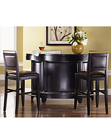 CLOSEOUT! Park Avenue Home Bar, 3 Piece Set (Bar & 2 Bar Stools)