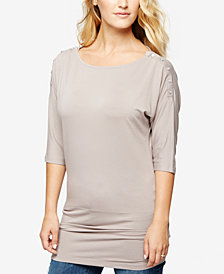 Seraphine Nursing Snapped-Shoulder Top