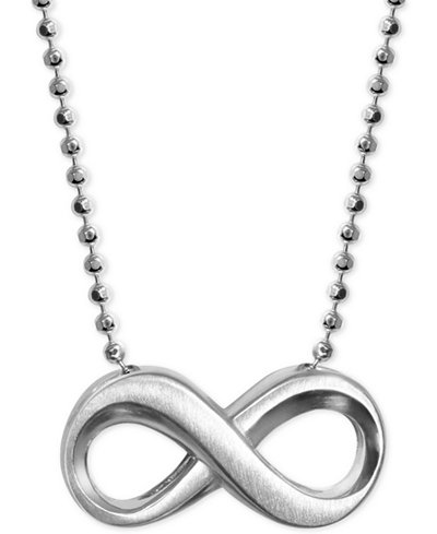 Alex Woo Infinity Pendant Necklace in Sterling Silver