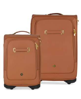 Joy Mangano Christie Leather Luggage with Spinball Wheels Luggage