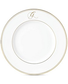 Federal Gold Monogram Accent Plate, Script Letters