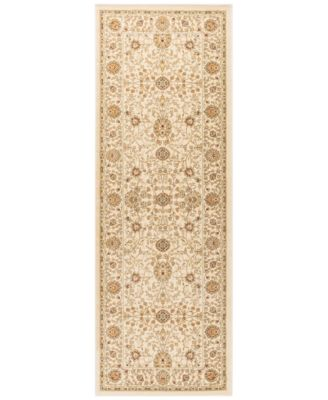 """CLOSEOUT! Oxford Kashan Ivory 2'7"""" x 7'3"""" Runner Area Rug"""