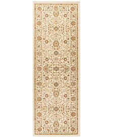 """CLOSEOUT! KM Home Oxford Kashan Ivory 2'7"""" x 7'3"""" Runner Area Rug"""