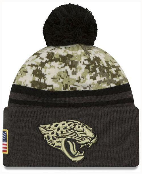 cheap for discount 0c05e 46e4d ... Hat  New Era Men s Jacksonville Jaguars Salute to Service Official Pom  Knit ...