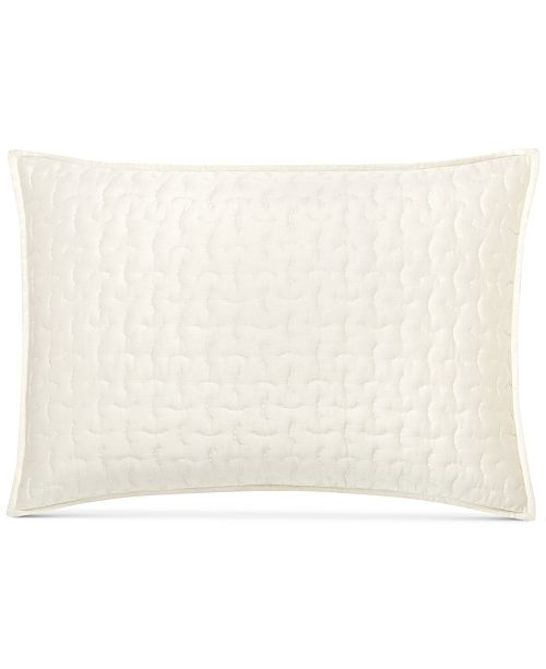 Hotel Collection  CLOSEOUT! Connection Indigo Quilted Standard Sham, Created for Macy's