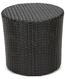 Ballston Wicker Barrel Side Table, Quick Ship