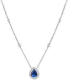 Tanzanite (1-5/8 ct. t.w.) and Diamond (1/4 ct. t.w.) Pendant Necklace in 14k White Gold