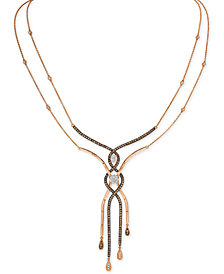 Le Vian Chocolatier® Diamond Necklace (1-1/2 ct. t.w.) in 14k Rose Gold
