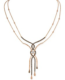 Le Vian Chocolatier® Diamond Necklace (1-1/2 ct. t.w.) in 14k Rose Gold