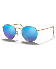Polarized Sunglasses, RB3447 ROUND FLASH LENSES