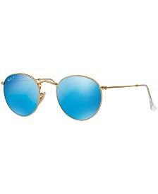 Ray-Ban Polarized Sunglasses , RB3447 ROUND FLASH LENSES