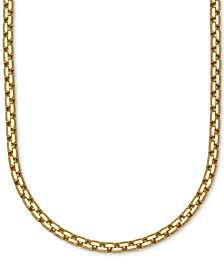 Large Rounded Box-Link Chain Necklace (3-3/8mm) in 14k Gold