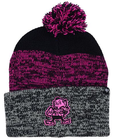 '47 Brand Cleveland Browns Static Cuff Pom Knit Hat