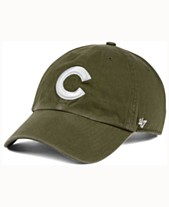 official photos 3a8bf 3ce1f  47 Brand Chicago Cubs Olive White CLEAN UP Cap ·