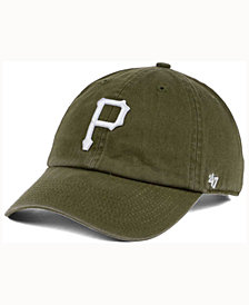 '47 Brand  Pittsburgh Pirates Olive White CLEAN UP Cap