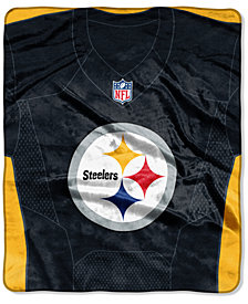 Northwest Company Pittsburgh Steelers Jersey Plush Raschel Throw