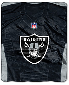 Northwest Company Oakland Raiders Jersey Plush Raschel Throw