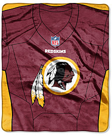 Northwest Company Washington Redskins Jersey Plush Raschel Throw