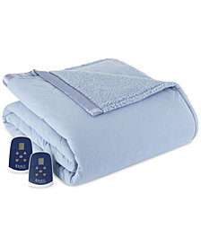 Shavel Reversible Micro Flannel® to Sherpa King Heated Blanket
