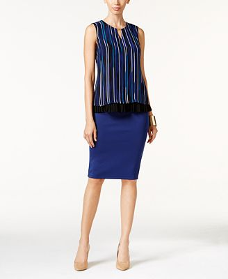 Thalia Sodi Pleated Top & Pencil Skirt, Only at Macy's