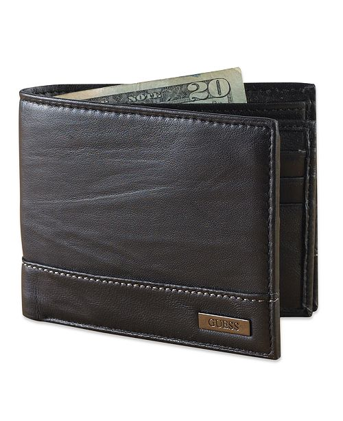 6d066f6761 GUESS Leather Bifold Wallet   Reviews - All Accessories - Men - Macy s