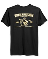 3fe75686bc6baf True Religion Men s Metallic Logo Graphic-Print T-Shirt