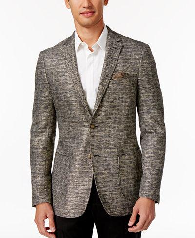 Tallia Men's Slim-Fit Black/White/Gold Sport Coat