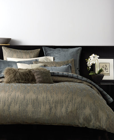 Donna Karan Exhale Taupe Duvet Covers