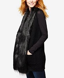 A Pea In The Pod Maternity Faux-Fur-Trim Vest